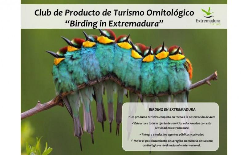 """Club de Producto de Turismo Ornitológico """"Birding Extremadura"""""""