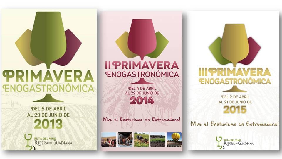 Tres ediciones de la Primavera Enogastronómica de la Ruta del Vino Ribera del Guadiana