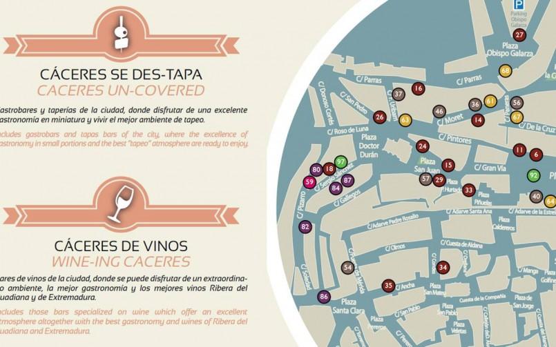 Cáceres, Capital Española de la Gastronomía, cuenta con un nuevo gastromapa