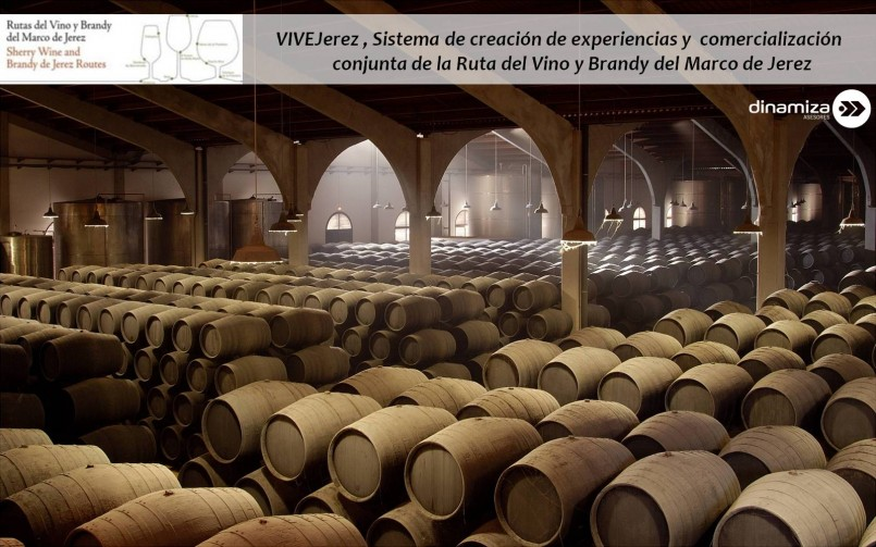 VIVEJerez , sistema de creación de experiencias y  comercialización de la Ruta del Vino y Brandy del Marco de Jerez