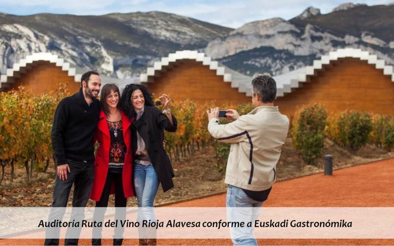 Auditoría Ruta del Vino Rioja Alavesa conforme a Euskadi Gastronómika
