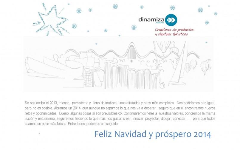 DINAMIZA te desea Feliz Navidad y un próspero 2014