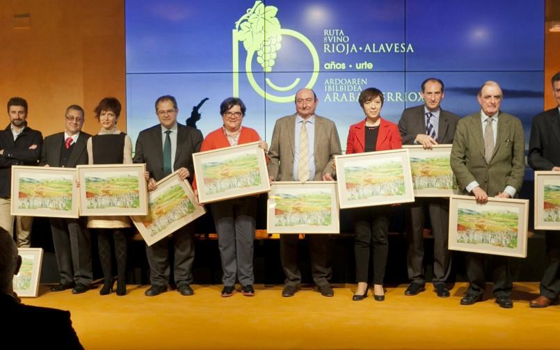 La Ruta del Vino de Rioja Alavesa celebra su 10º Aniversario